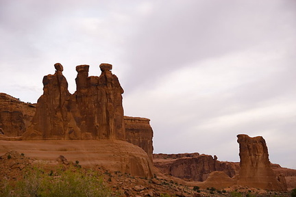The Three Gossips plus Sheep rock